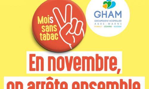 Moi(s) sans tabac : les professionnels du GHAM vous accompagnent dans votre démarche !