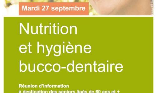Réunion d'information sur la nutrition et l'hygiène bucco-dentaire des séniors de plus de 60 ans