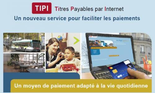 Réglez vos factures directement sur internet, grâce au système TIPI