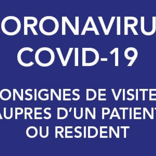 Coronavirus Covid-19 : consignes aux visiteurs