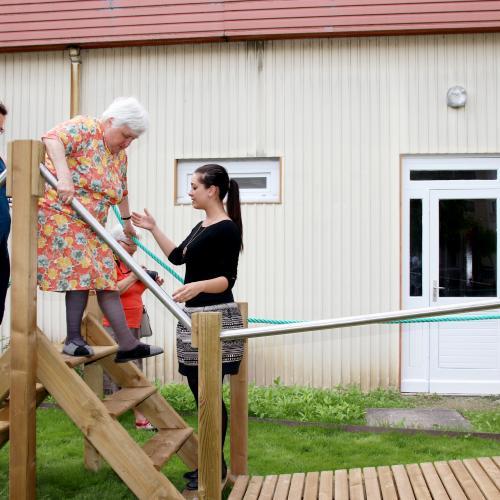 Un parcours de santé adapté aux résidents de l'EHPAD, à Sézanne - L'union du 17.06.18