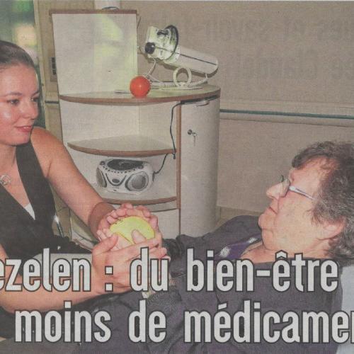 Snoezelen : du bien-être pour moins de médicaments - L'est éclair du 13.06.18